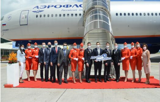 Aeroflot's inaugural flight touches down in Seychelles 005